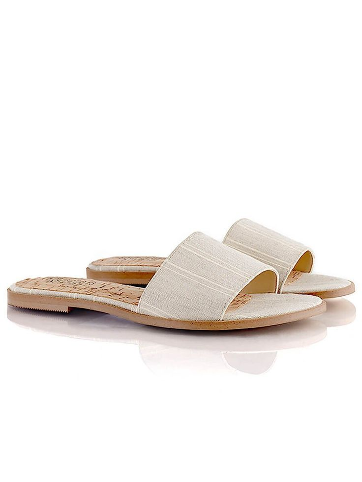 shop ethical sustainable & ethical clothing by Bourgeois Boheme Felicity Sandals: Textile Natural| Portugal Artisan Handmade with Vegan Leather Shoes | Ethi