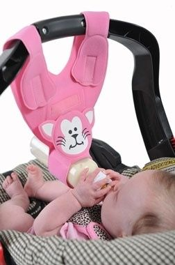 Let this be your extra hand for bottle feeding during car trips. So cute and convenient!