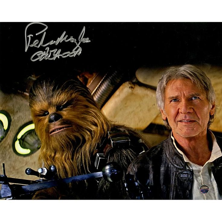 "Peter Mayhew Signed ""Chewbacca"" with Han Solo Star Wars Episode VII: The Force Awakens 8"" x 10"" Photo"