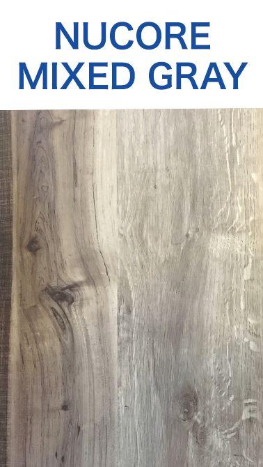 Nucore Mixed Gray Hand Sed Plank With Cork Back Waterproof Flooring Luxury Vinyl Tile Wood Look