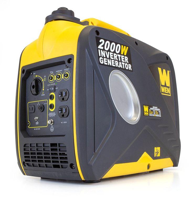 WEN 56200i, 2000 Watts, 4 Stroke Gas Powered Portable Inverter Generator