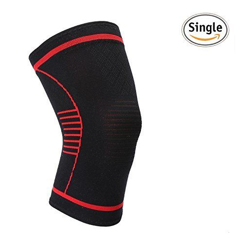$6.99 (50% Off) on LootHoot.com - Jovry Unisex Athletics Knee Compression Sleeve Support for Runing, Jogging,Sports,Joint Pain Relief,Arthritis and Injury Recovery-Single Wrap S