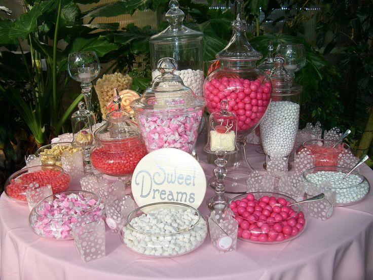 Algunas ideas para un candy bar en tonos rosa y malva