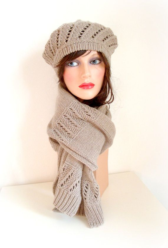 SALE was 80 Pure Cashmere Women Knit Scarf  by InkaBoutique, $69.00