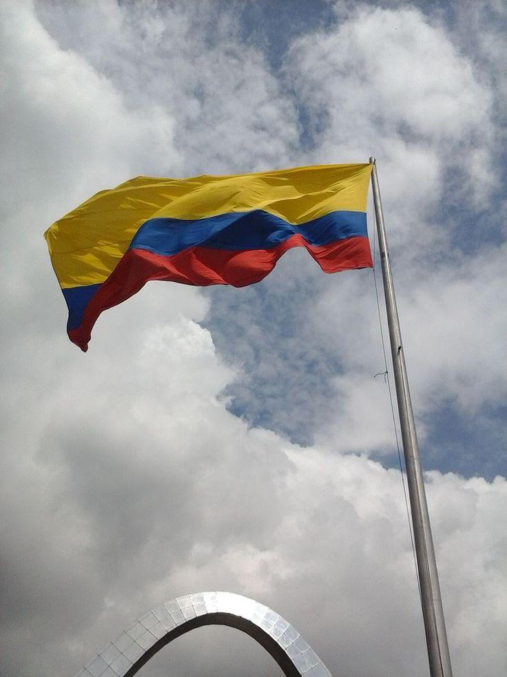 Bandera de Colombia en corferias.jpg