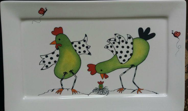 plat poule - Les porcelaines de Coco