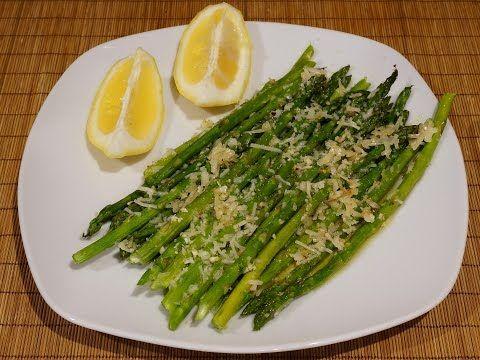 Спаржа запечённая в духовке с чесноком и пармезаном_Baked asparagus with garlic and parmesan - YouTube