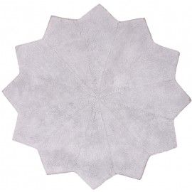 Tapis antidérapant en coton gris Lolipop Nattiot