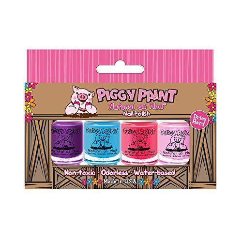 Piggy Paint Nail Polish- 4 Bottle Box- Non-toxicColors ma...