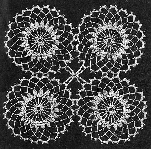 Motif Pattern #7308 - Free Vintage Crochet.