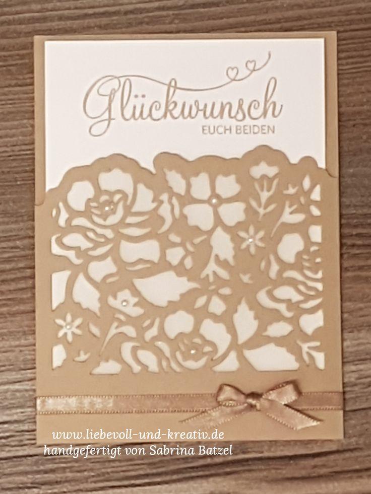 Hochzeit Wedding Glückwunschkarte Florale Fantasie Stampin'Up