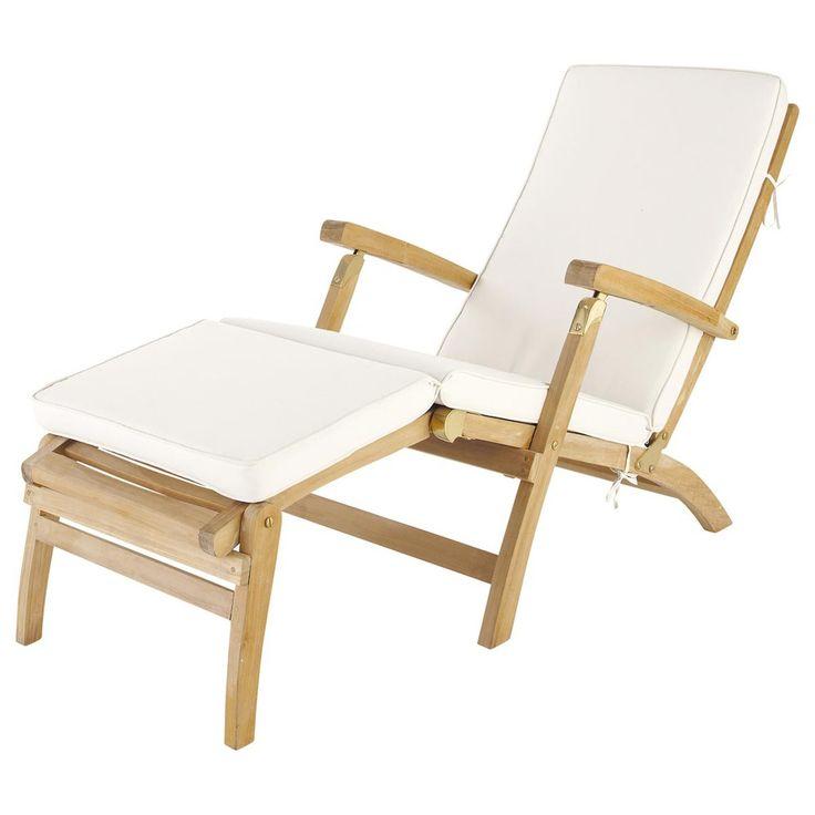Off-white chaise longue mattress L 185 cm