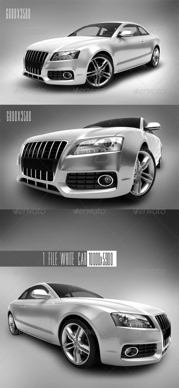 White Car 1  #GraphicRiver         3D rendering white cars on a white bachkground. In the zip archive 3 cars without background. Resolution (2 files -6000×3500, 1 files -10000×5900)     Created: 3February12 GraphicsFilesIncluded: PhotoshopPSD #JPGImage Layered: Yes MinimumAdobeCSVersion: CS3 PixelDimensions: 6000x3500 Tags: auto #automobile #background #black #car #chrome #gloss #gray #isolated #modern #motor #power #race #red #reflection #rides #speed #sport #steel #traffic #transportation…