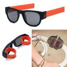 Kottdo Papa Pulsera Anillo de la Elasticidad de la Tendencia gafas de Sol Polarizadas Gafas de Sol Mujer Hombre Espejo Plegable Al Aire Libre Gafas Gafas