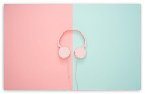 Headphones Hd Wallpaper For 4k Uhd Widescreen Desktop Smartphone Teal Walls Tumblr Wallpaper Pink Aesthetic