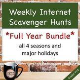 *BUNDLE* WHOLE YEAR Weekly MLA Internet Scavenger Hunts $