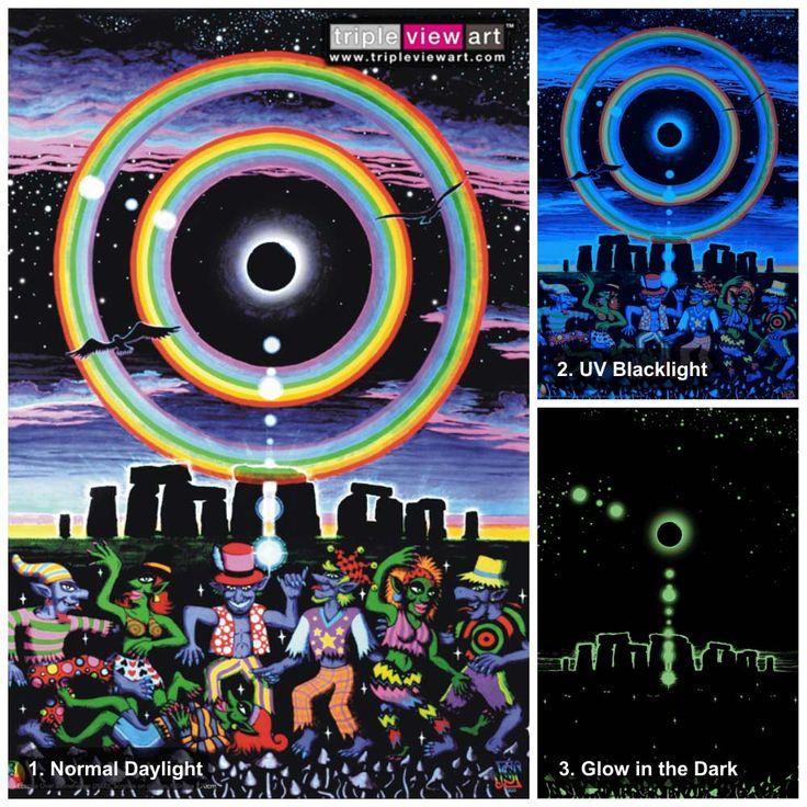 136 Best UV Black Light Art Posters Images On Pinterest Psychedelic Art Light Art And Black