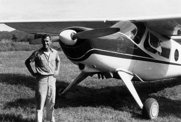 Pilot Wayne would shoot landings at Bagabag before flying into the exceedingly short strip at Balangao, which had dropoffs on both ends, circa mid-1960s. Photo provided by Jo Shetler. www.facebook.com/JAARSinc