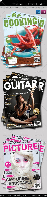 Magazine Front Cover Bundle 1