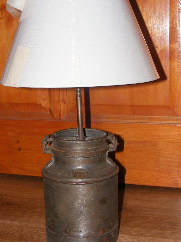 Table lamp  1910 milk can.