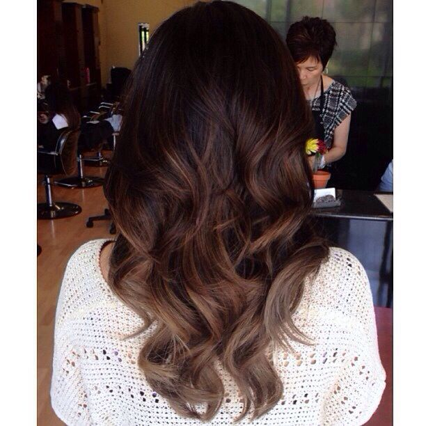 If ever I did ombre, it would be this - Dark brown balayage ombre.: