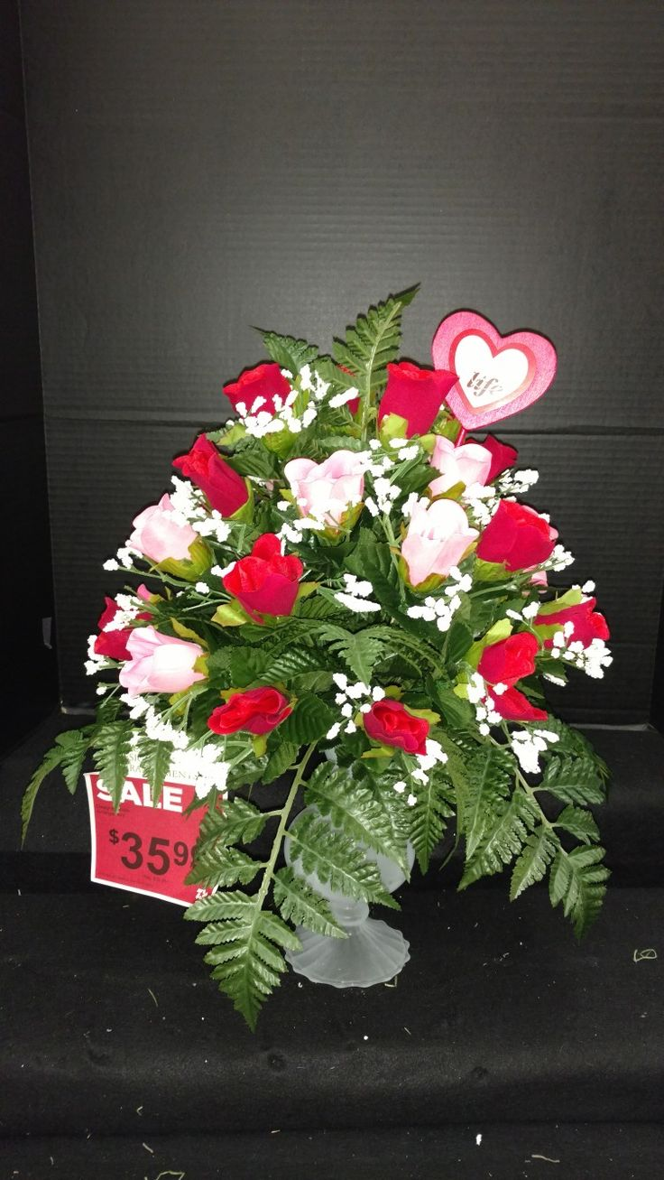 Valentine's day floral Arrangement by Laura Lake @AC Moore