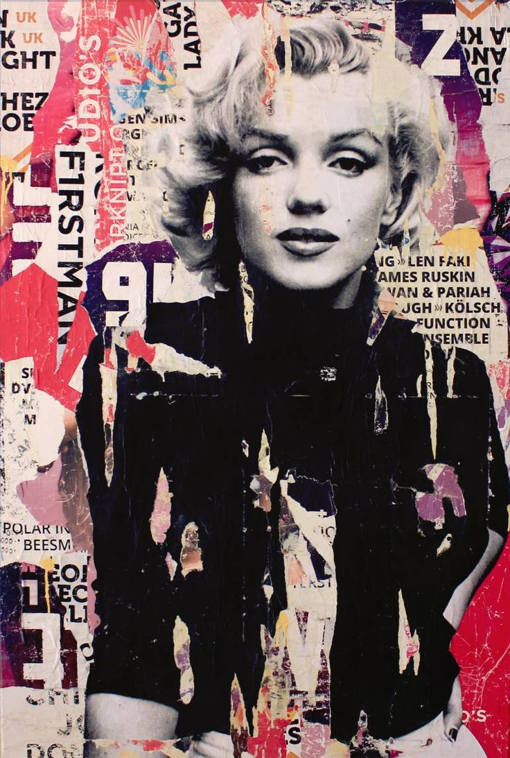 "Saatchi Art Artist Michiel Folkers; Collage, ""Marilyn Monroe"" #art"
