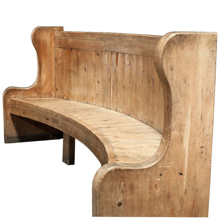 Monumental French Chateau Radius Bench ca.1830's | From a unique collection of antique and modern benches at http://www.1stdibs.com/furniture/seating/benches/
