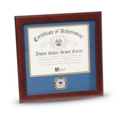 Coast Guard Certificate Frame with Medallion