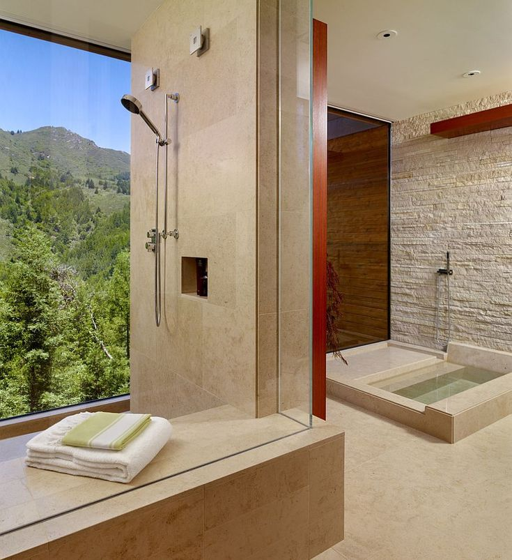 26-AD-Stone-wall-brings-a-rougher-texture-to-the-refined-contemporary-bathroom