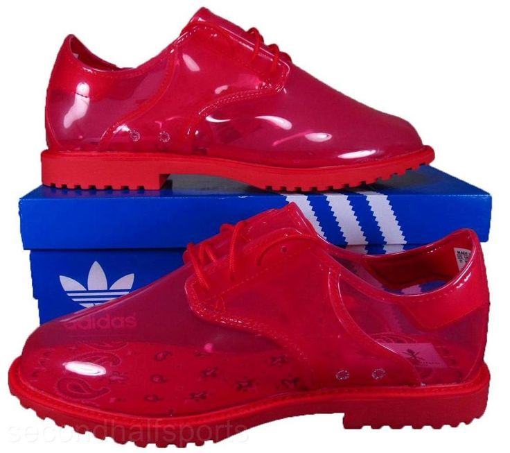Adidas Originals ObyO Opening Ceremony Rubber Dress JELLY Oxford Shoe RED Q20132 #adidas #Oxfords