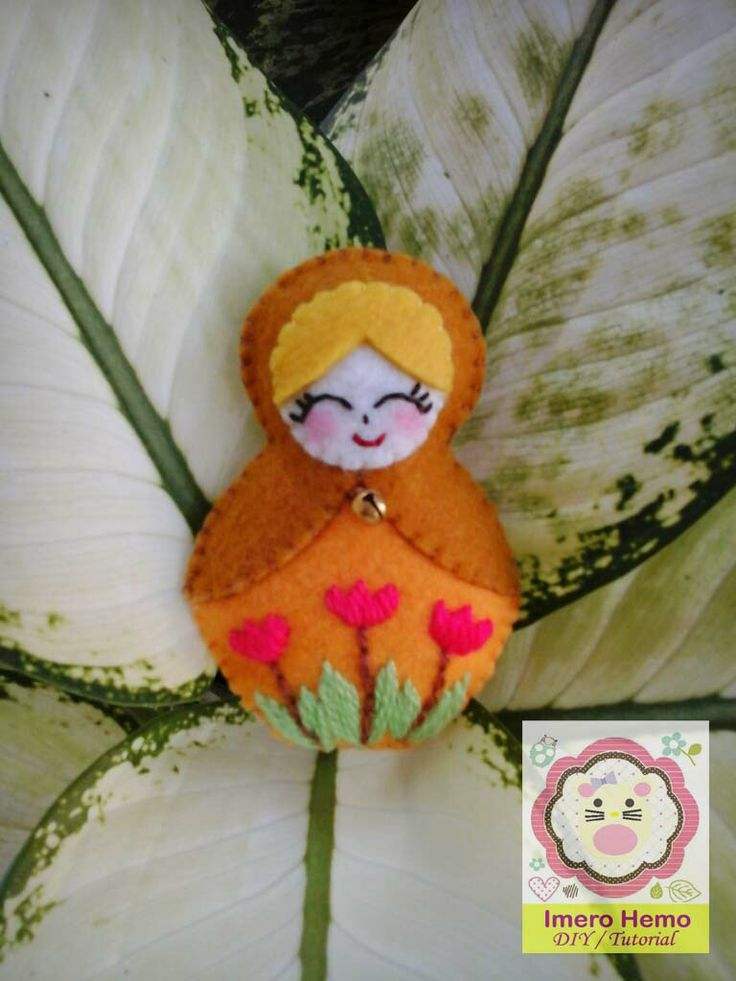 Matryoshka Felt Doll Tutorial in Bahasa Indonesia
