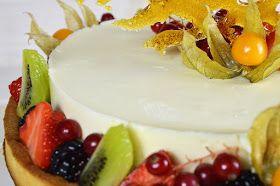YOLANDA PINCHOLOS COOKING: Tarta de mousse de chocolate blanco con frutas exóticas. #retonoviembreCookingtheChef