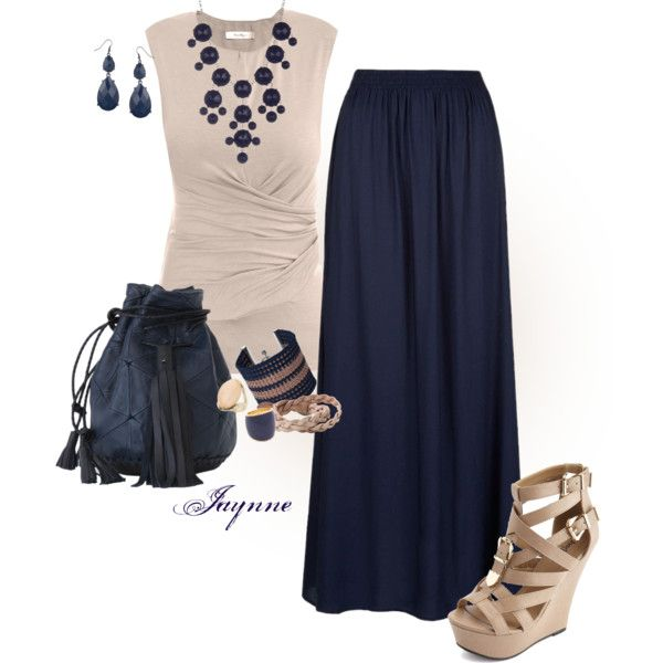 """""""'Classic Navy and Taupe'"""" by ladyjaynne on Polyvore"""