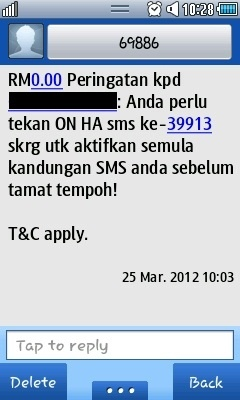 Scam alert from 69886 and 39913 at http://www.rmvalues.com/blog/2012/03/29/scam-alert-from-39913-sms/