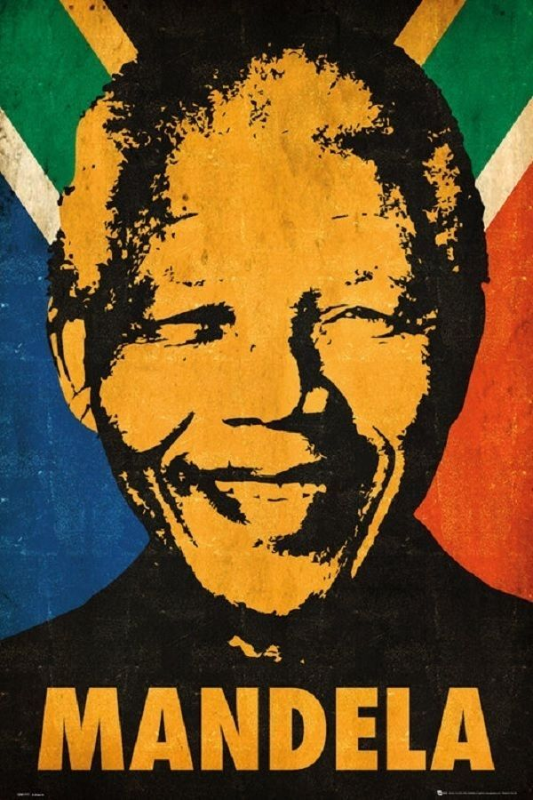 """NELSON MANDELA POSTER """"Motivational Inspirational Leader"""" NEW Licensed"""
