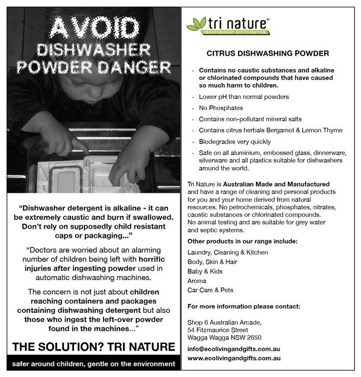 Avoid Dishwasher Powder Danger! #trinature #dishwashingpowder #environment #safe