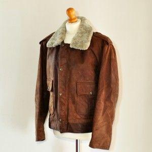 Aviator vintage jacket www.caosretro.com