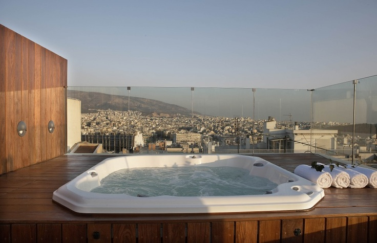 20. #Periscope #Hotel #Greece, Penthouse Suite Jacuzzi #periscopehotel