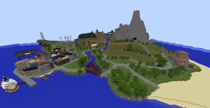Wuhu Island - Wii Sport Resort Island Minecraft Project