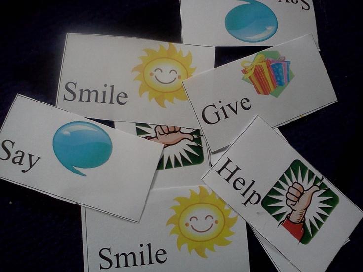 Flame: Creative Children's Ministry: Fruit of the Spirit: Kindness prayer station