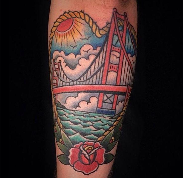 San Francisco, Golden Gate Bridge tattoo