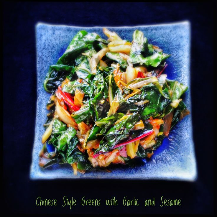 Chinese Style Greens with Garlic and Sesame