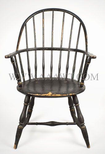 Rhode Island Sack Back Windsor circa 1780    great early american chair