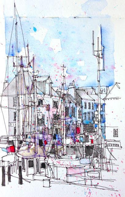 urban sketchers: greetings from cornwall