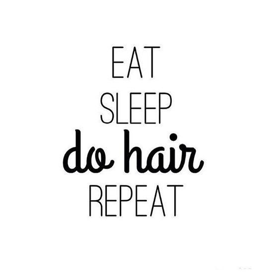 eat, sleep, do hair, repeat. <3  being a #stylist is one of the best jobs in the world.  #hair #beauty #style #nvennhairbeauty #yychair #yeghair #bbloggers