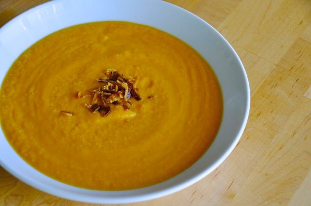 Roasted Butternut Squash Soup with Crispy Pancetta http ...