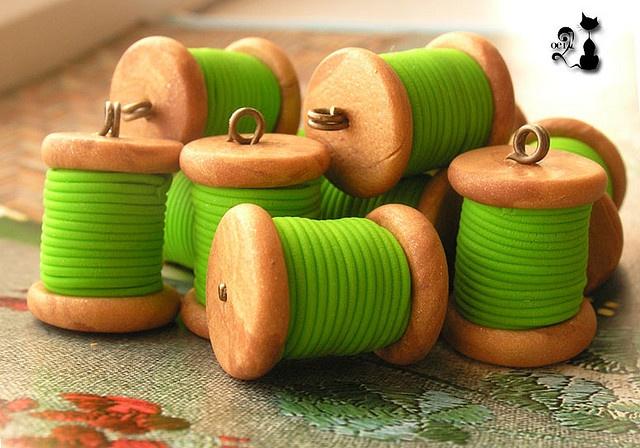 Thread spool poly beads--cute!