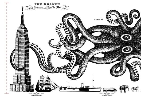 the kraken / stranger  stranger http://media-cache9.pinterest.com/upload/262264378270211060_91L1buDb_f.jpg tempspaz illustrative: Octopuses Attack, Books Inspiration, About Art, Stuff, Kraken Room, Tattoo Inspiration, Squid Attack, Spices Rum, Kraken Spices