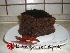 Συνταγή για το διάσημο σοκολατενιο κέικ της καφετεριας Κουκουβαγιας στα Χανια.